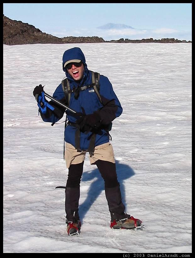 Mount Adams climb: Jim ready to arrest