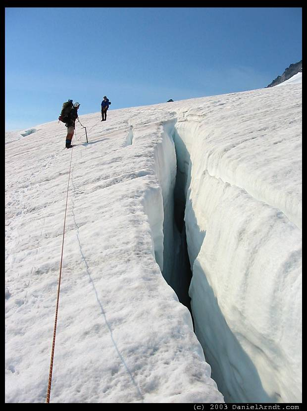 Eldorado Peak climb: navigating crevasses on Eldorado Glacier