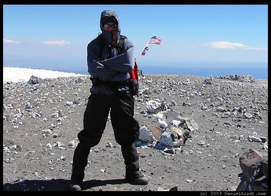 Mount Adams climb: Daniel on the summit