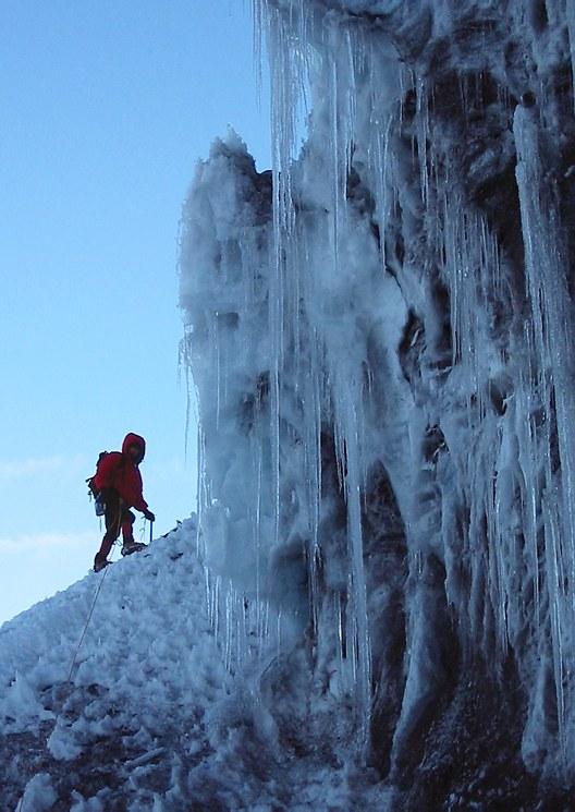 Mount Rainier climb: Gary leading out