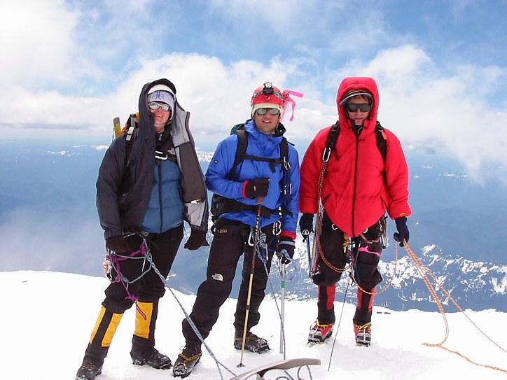 Mount Rainier climb: on the crater rim