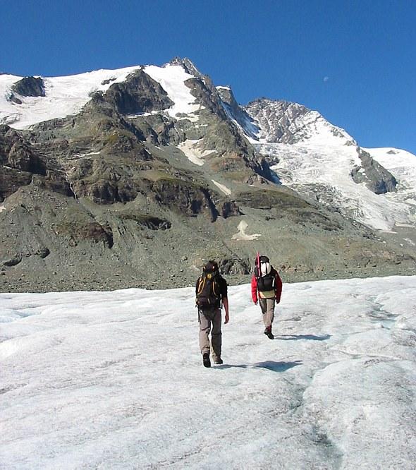 Großglockner climb: on the Pasterze glacier