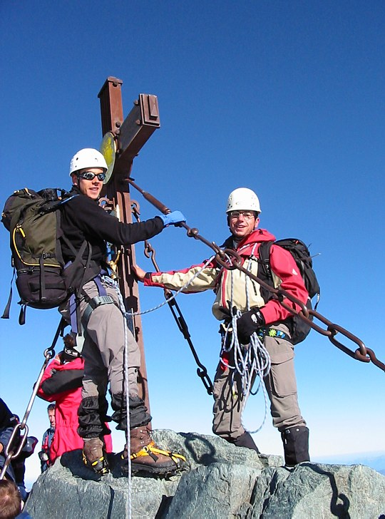 Großglockner climb: on the summit