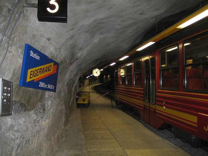 Jungfrau: Eigerwand station (2865 m)