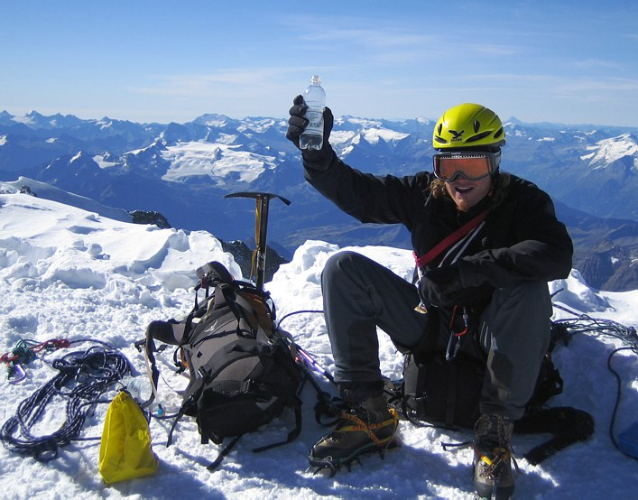 Mont Blanc: on the summit of Mont Blanc
