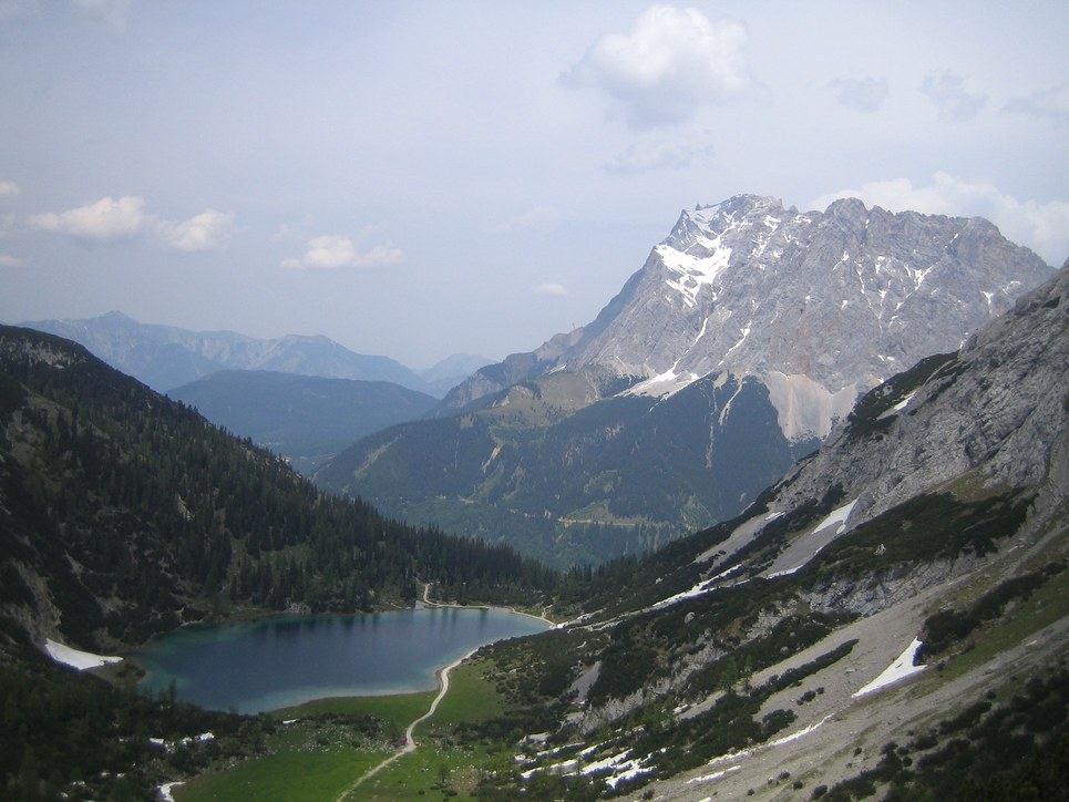 Klettersteig Ehrwald : Seebener klettersteig near ehrwald to coburger hut descend via