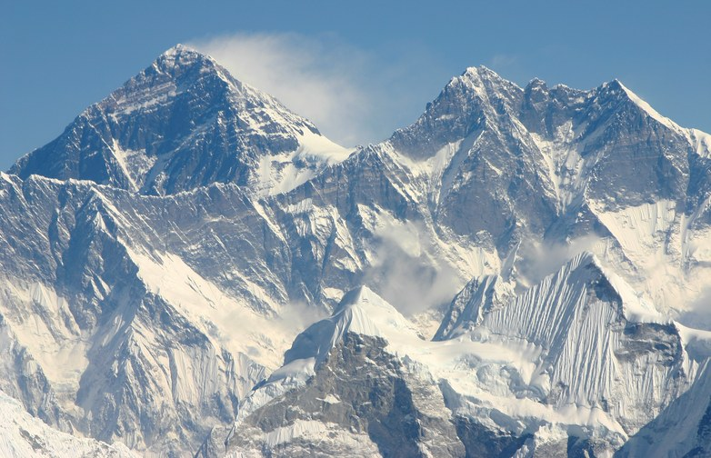 Mountain Flight to Everest Massif: Mount Everest (8848 m) and Lhotse (8516 m)
