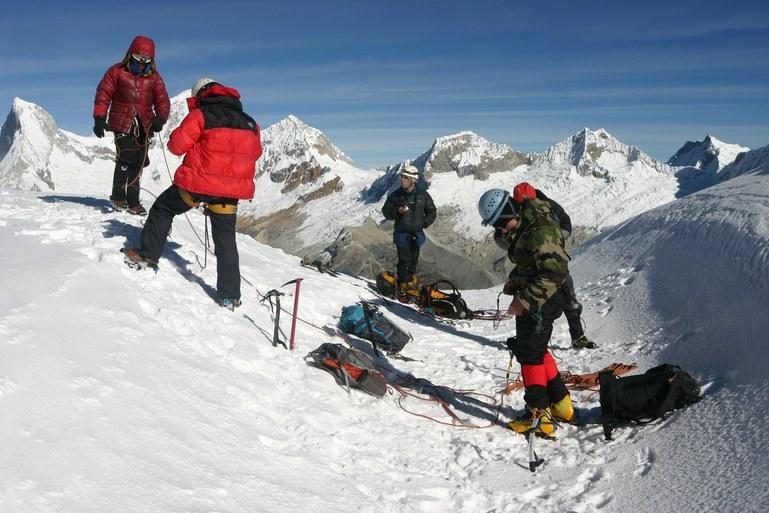 Yanapaccha climb: on the summit of Yanapaccha (5347 m)