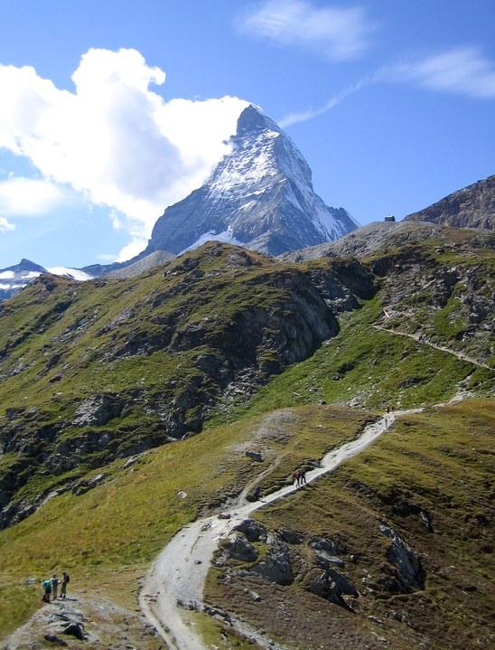 Matterhorn via Hörnli ridge: Matterhorn from Schwarzsee