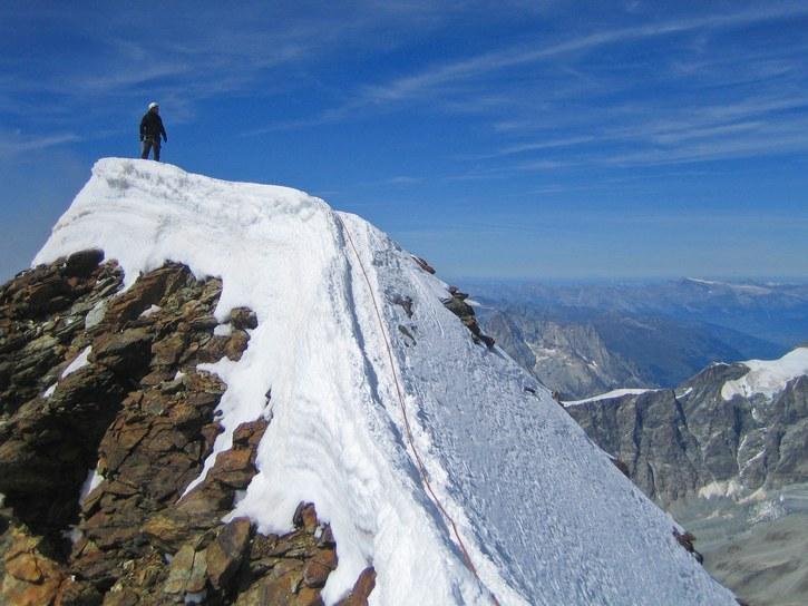 Matterhorn via Hörnli ridge: Peter on summit of the Matterhorn