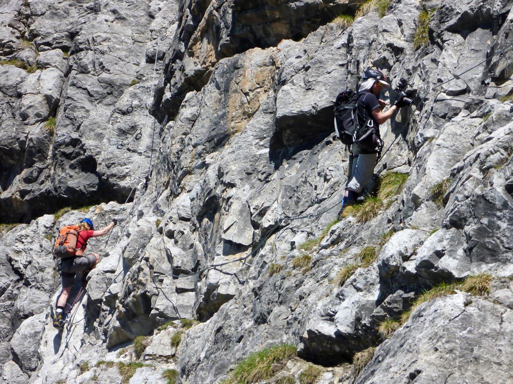 Klettersteig Piz Mitgel : Piz mitgel 3159 m via ferrata aborted at 2960 due to