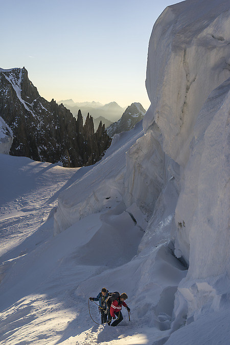 Climbers on the glacier (keywords: climbers, Mont Blanc)